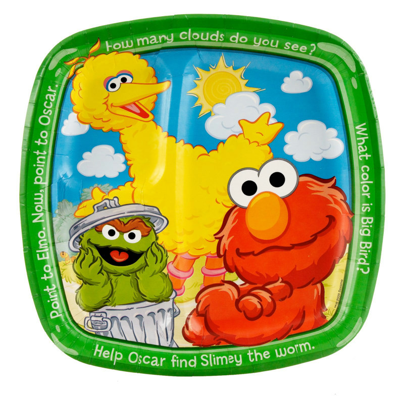 Sesame Street Sunny Days Dinner Pocket Plates (8 count)
