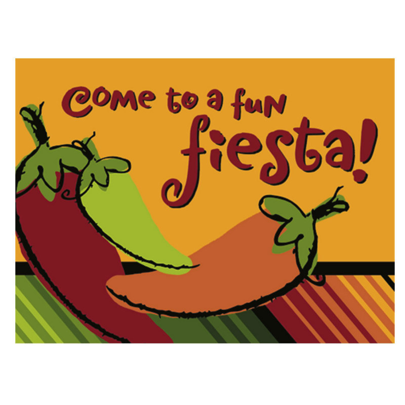 Fiesta Peppers Invitations (8 count)