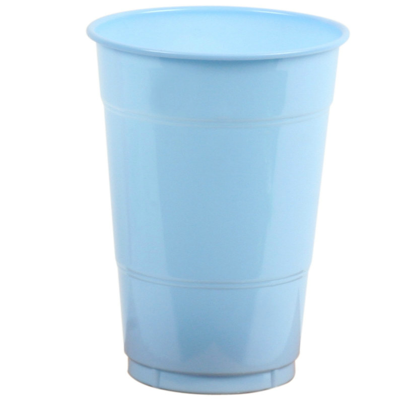 Light Blue 16 oz. Plastic Cups (20 count)