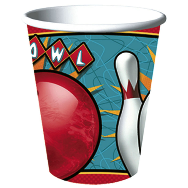 It's A Strike! Bowling 9 oz. Cups (8 count)