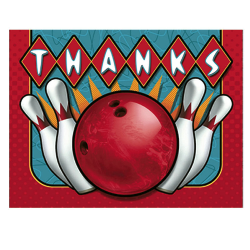 It's A Strike! Bowling Thank You Cards (8 count)