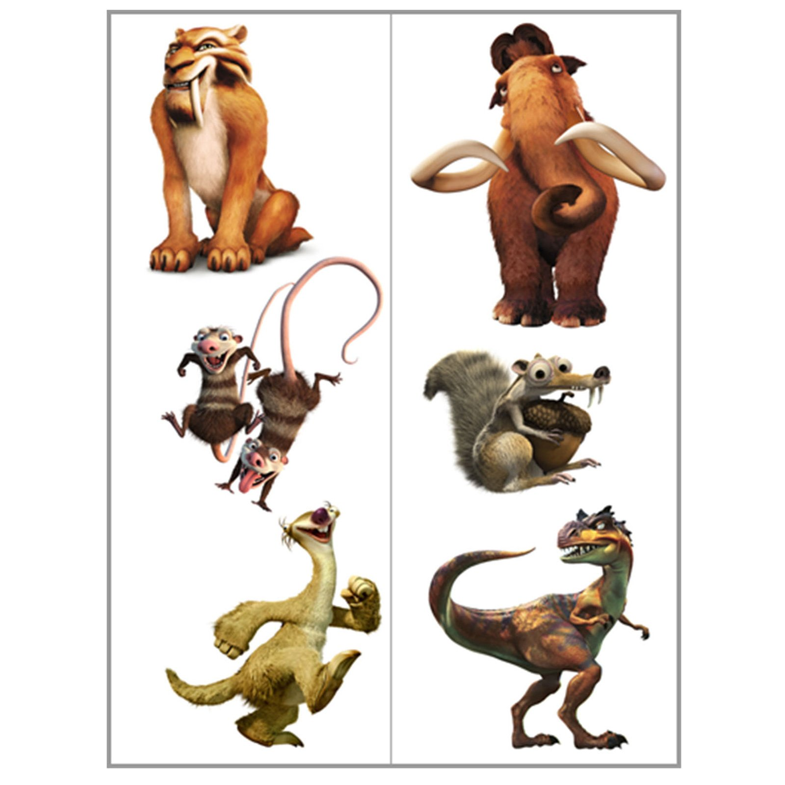 Ice Age 3 Tattoos (2 count)