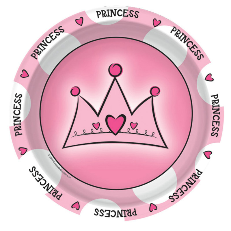 Birthday Princess Dessert Plates (8 count)