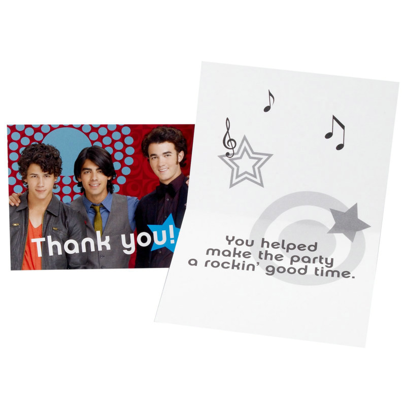 JONAS Thank You Cards (8 count)