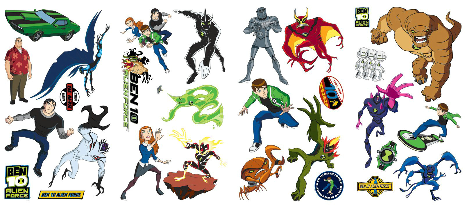 Ben 10 Alien Force Removable Wall Decorations - Click Image to Close