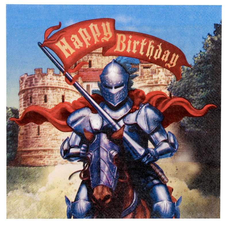 Knight Happy Birthday Lunch Napkins (16 count)