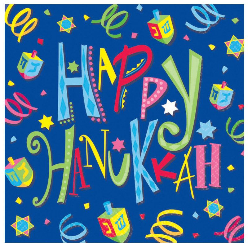 Hanukkah Fun Lunch Napkins (16 count) - Click Image to Close