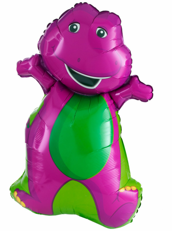 "Barney 34"" Super Shape Foil Balloon"