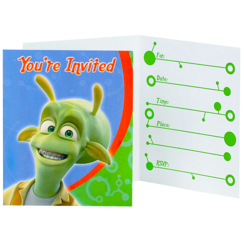 Planet 51 Invitations (8 count)