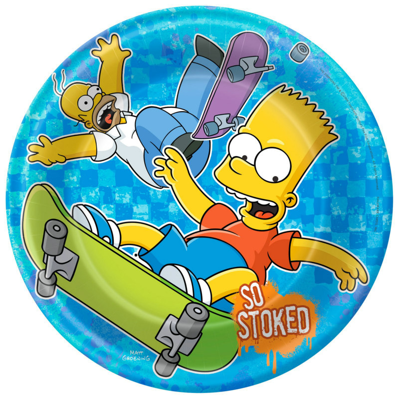Simpsons Dinner Plates (8 count)