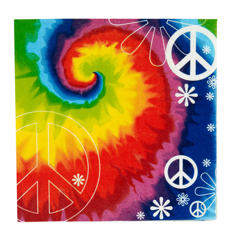 Tie Dye Fun Lunch Napkins (18 count)