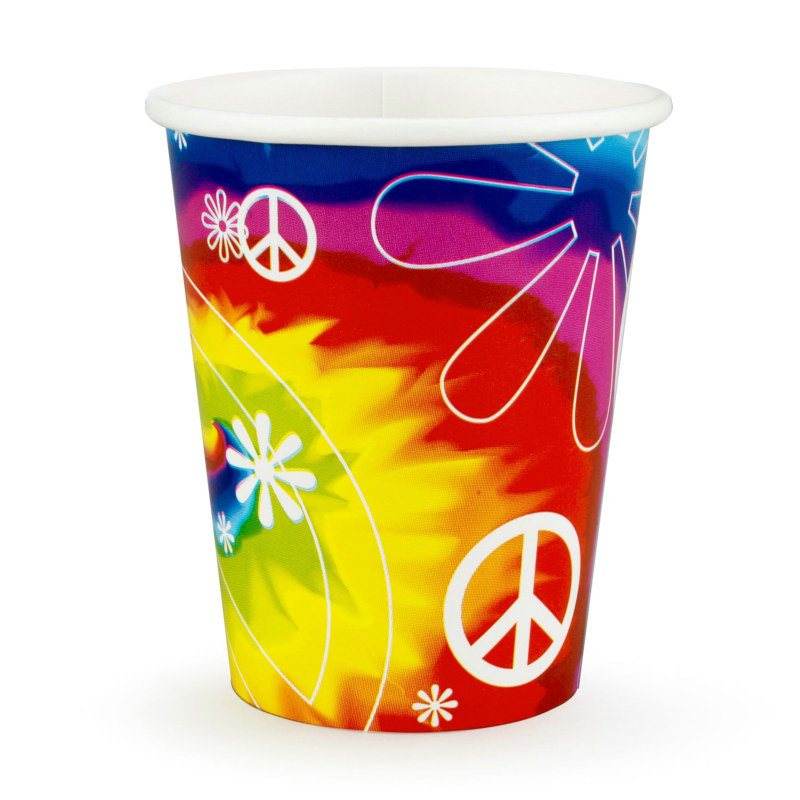 Tie Dye Fun 9 oz. Cups (8 count)