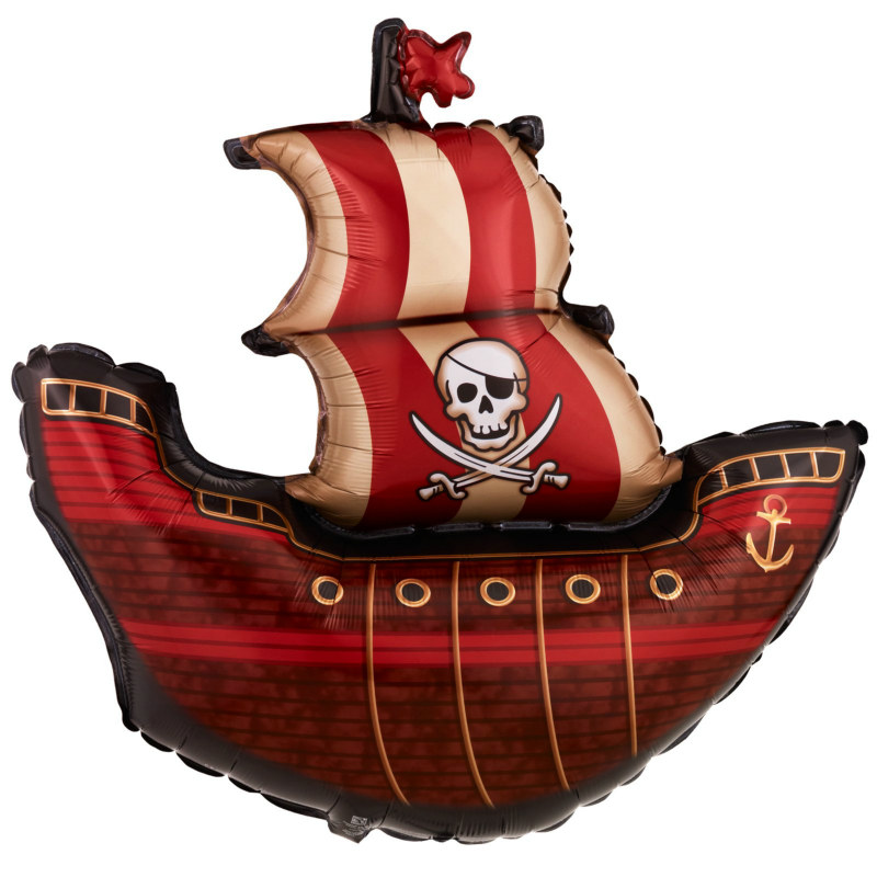 "Pirate Ship Shape Jumbo 40"" Foil Balloon"