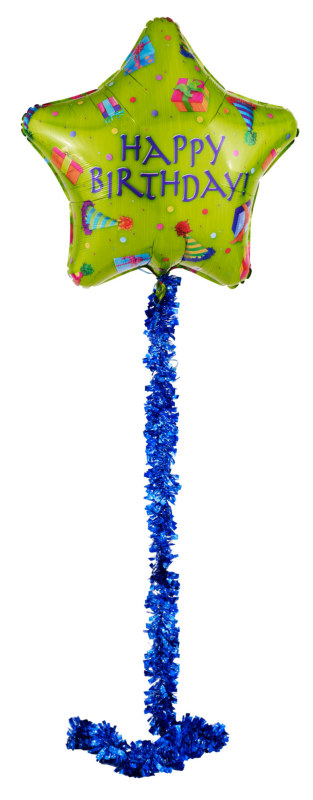 "Happy Birthday Airwalker 34"" Foil Balloon"