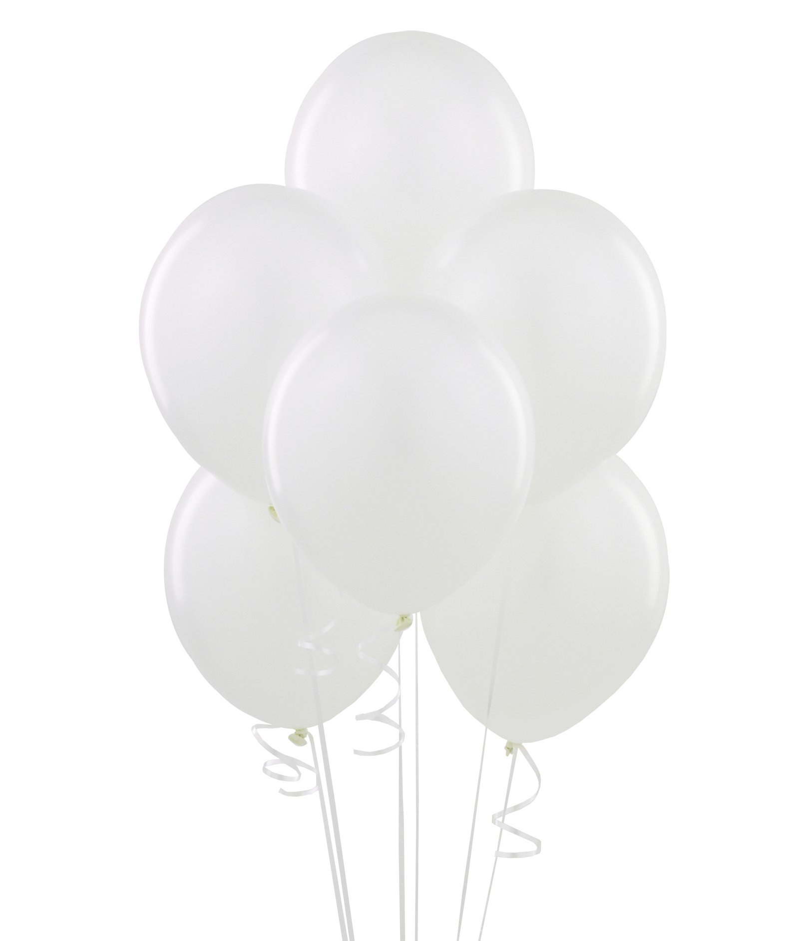Bright White (White) Latex Balloons (6 count)