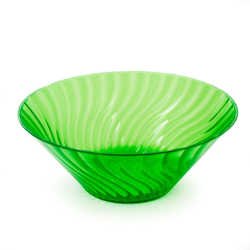 "11"" Lemon Lime Large Plastic Bowl"