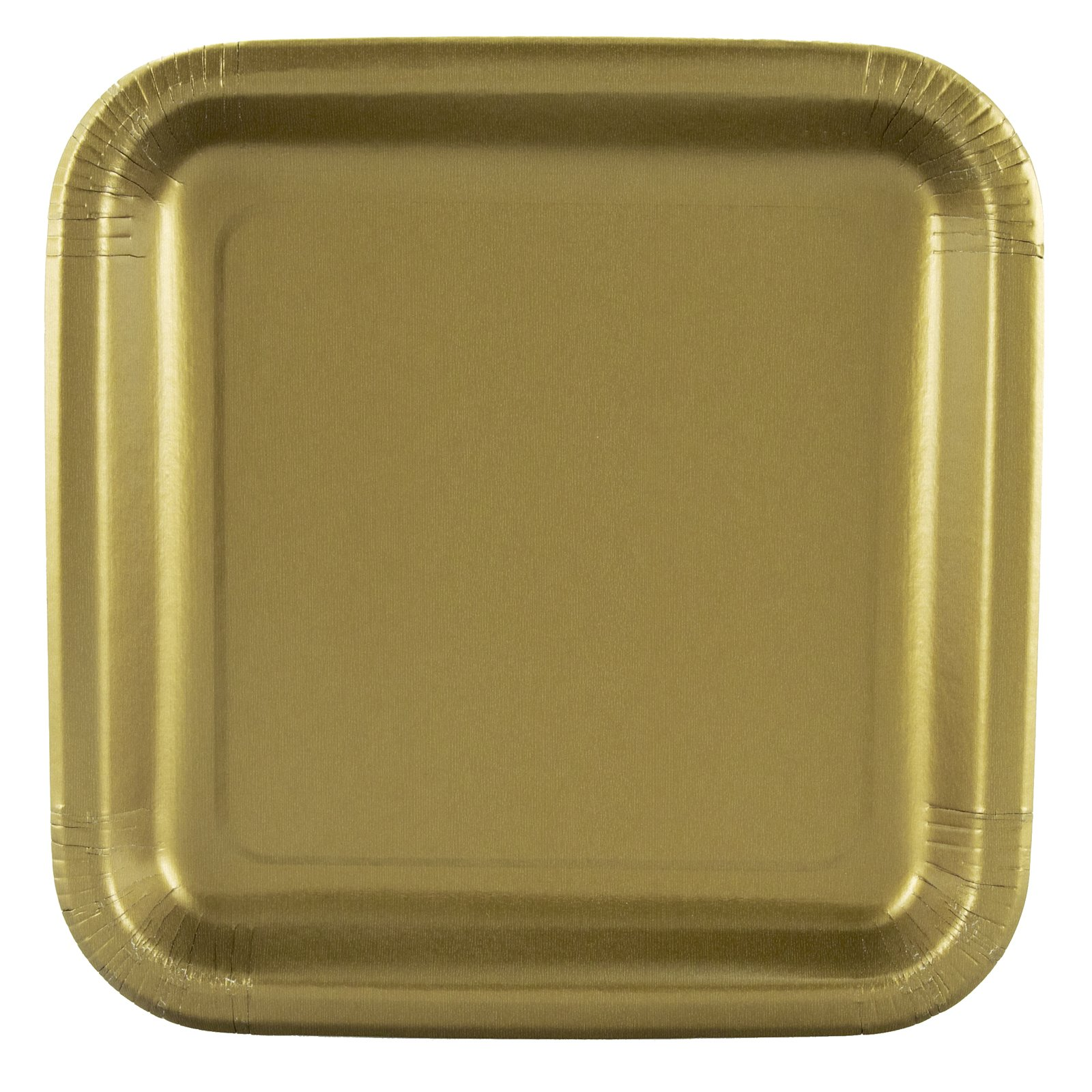 Gold Square Dessert Plates (12 count)