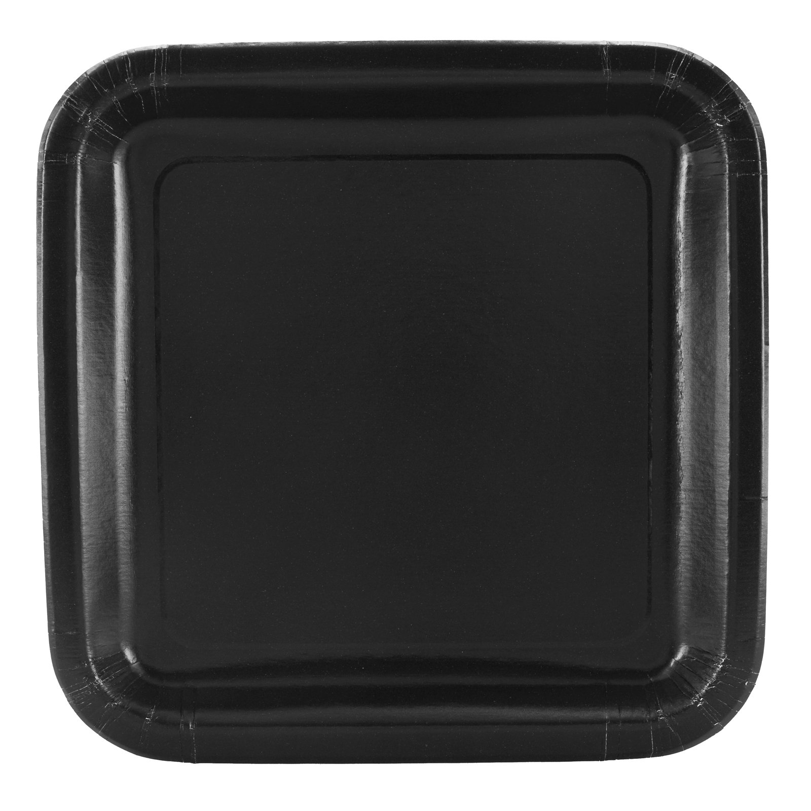 Black Square Dinner Plates (12 count)