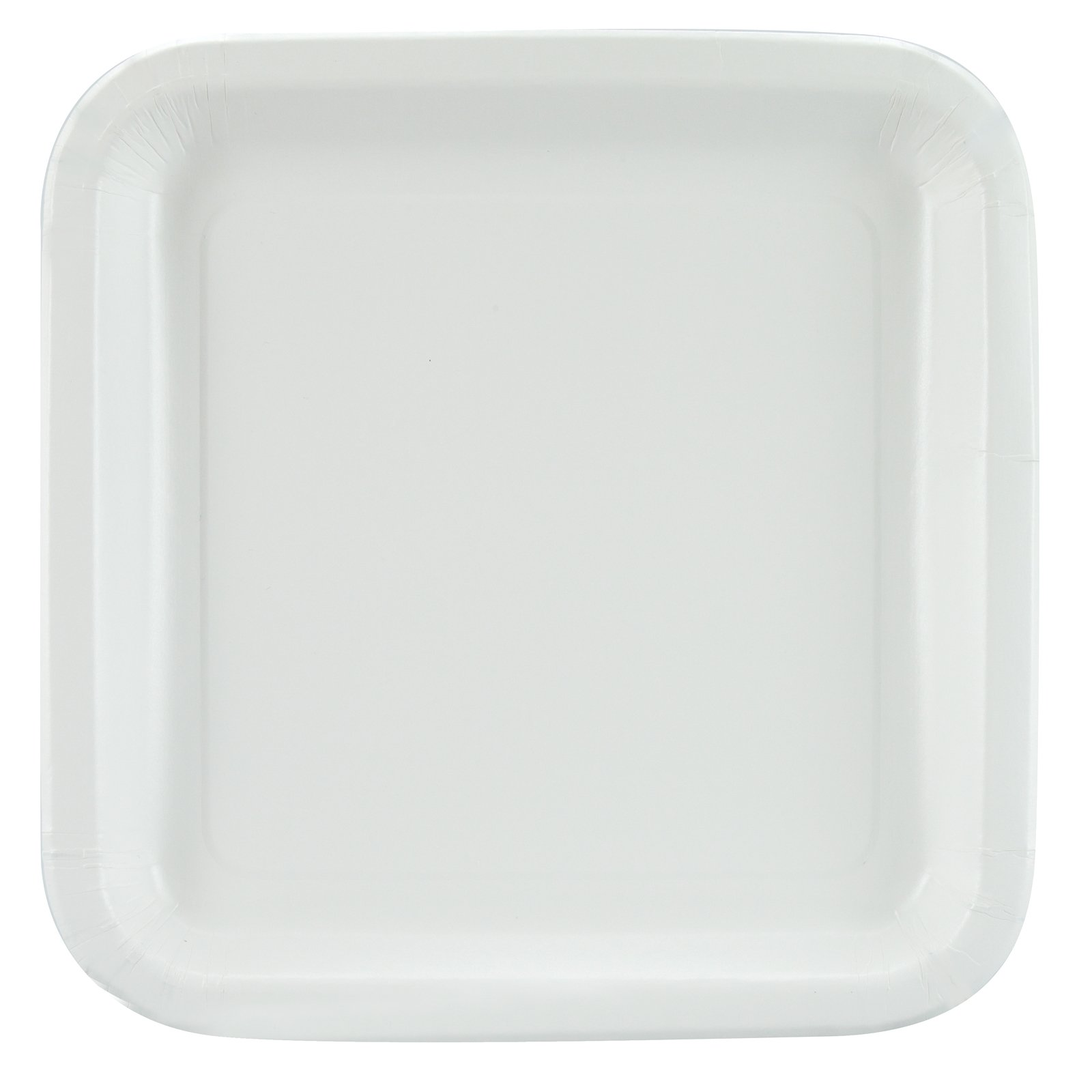 White Square Dinner Plates (12 count)
