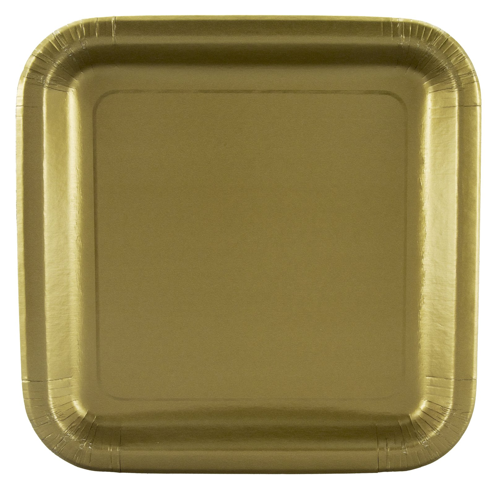 Gold Square Dinner Plates (12 count)