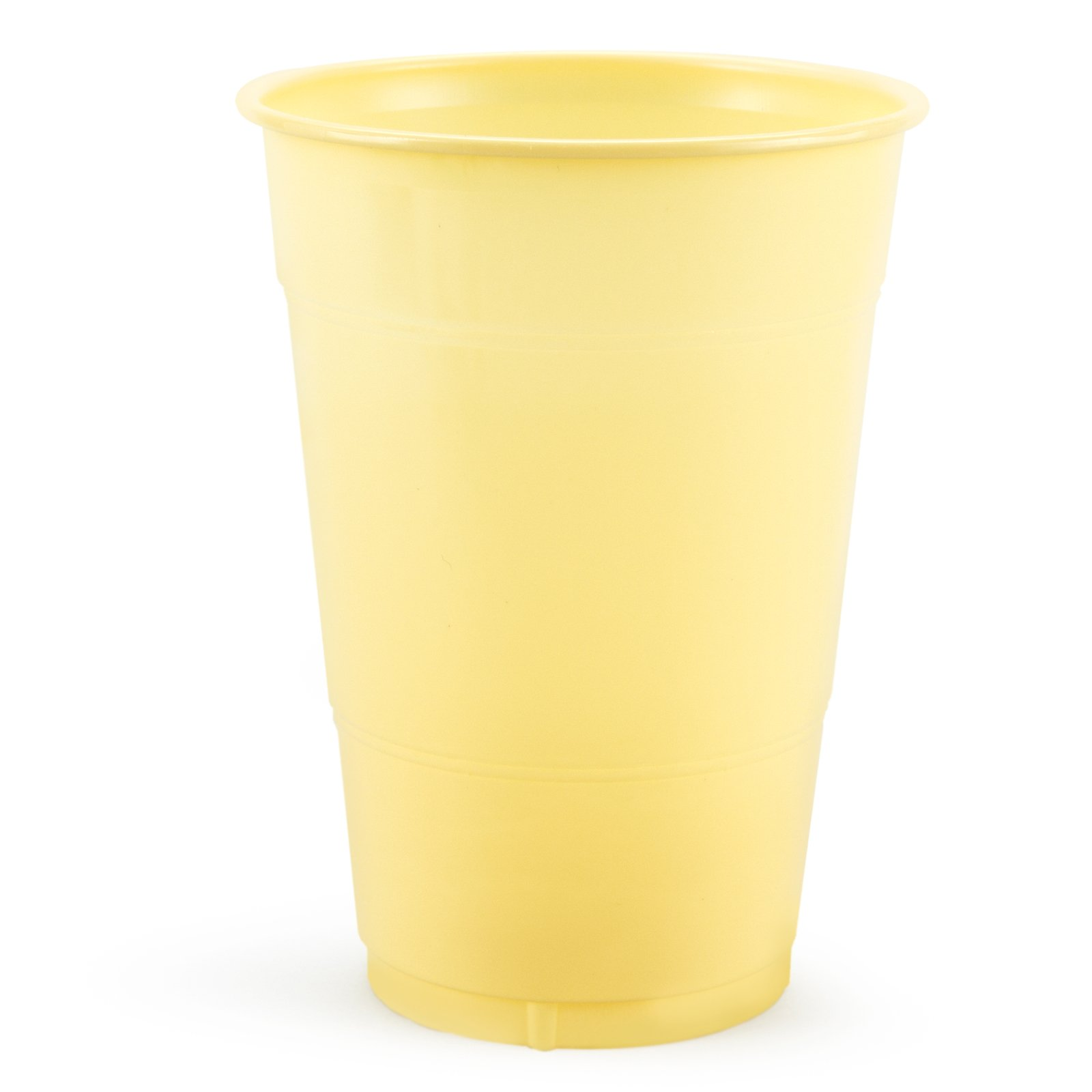 Light Yellow 16 oz. Plastic Cups (20 count)