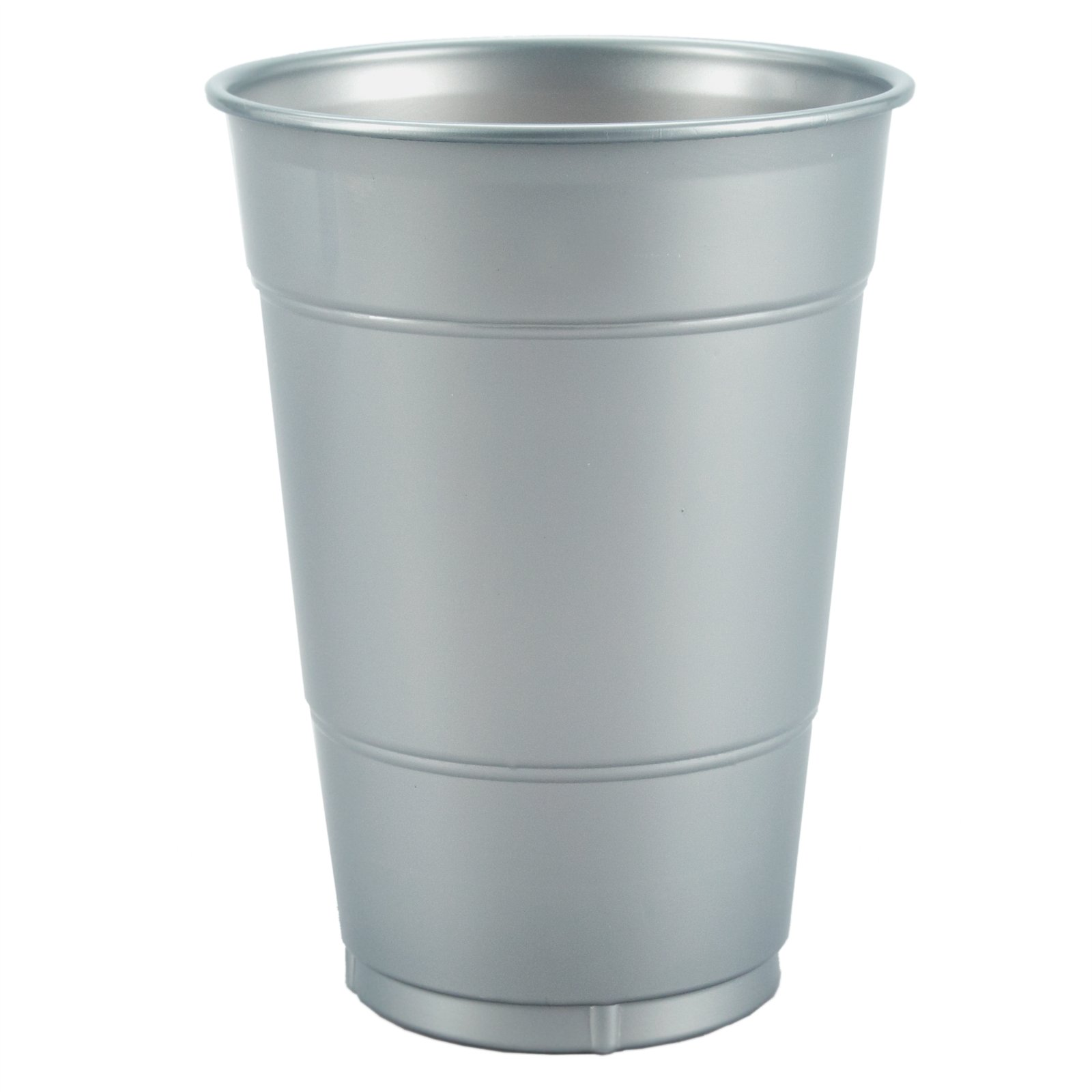 Silver 16 oz. Plastic Cups (20 count)