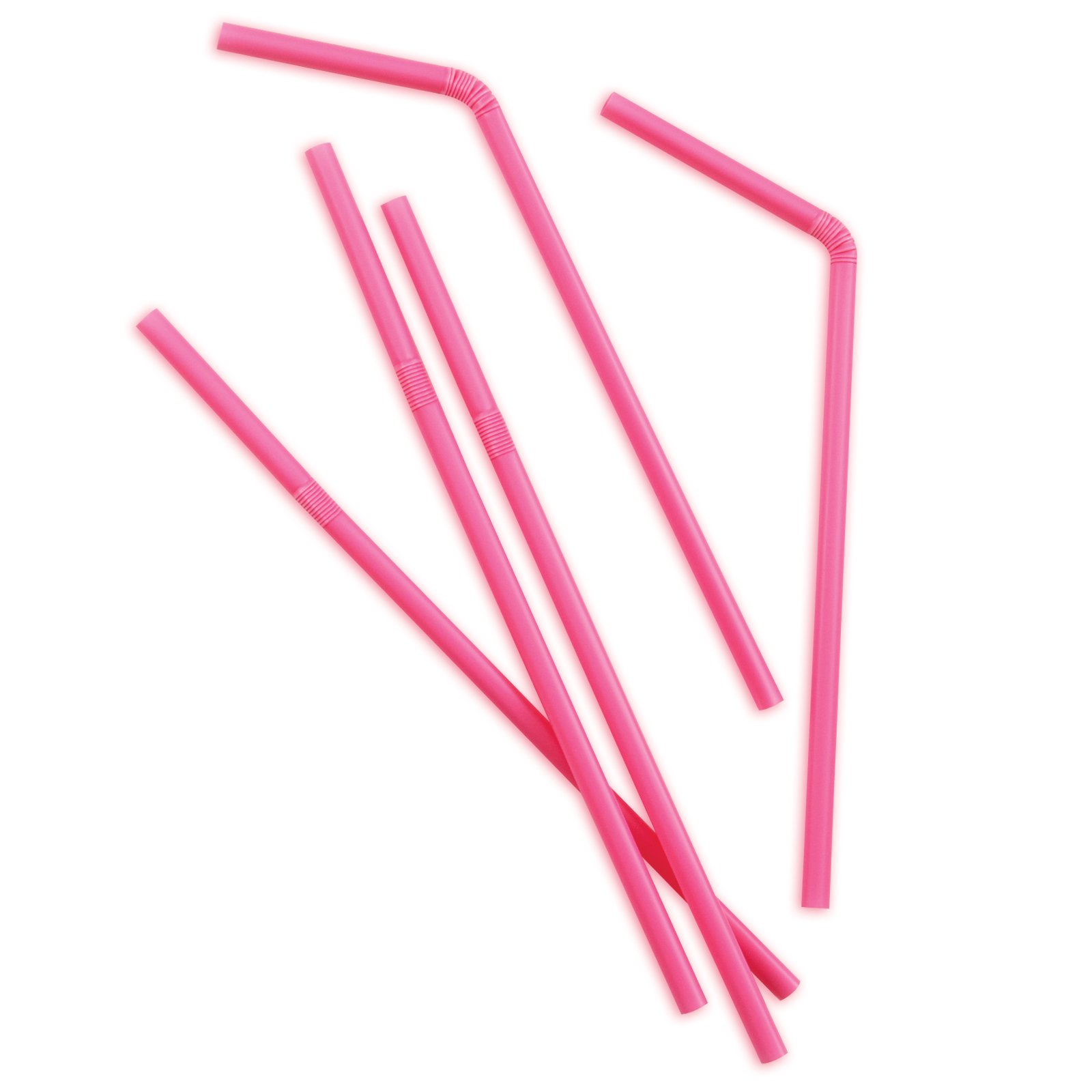 Hot Pink Flex Straws (50 count)