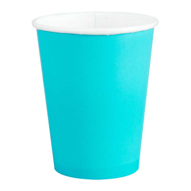 Turquoise 9 oz. Paper Cups (24 count)