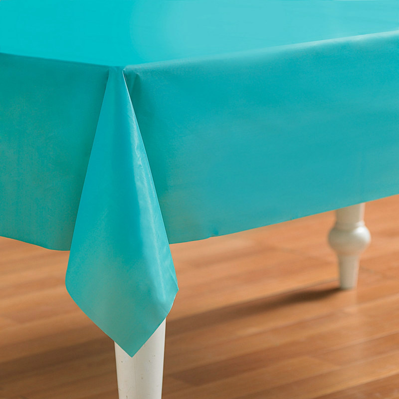Turquoise Plastic Tablecover
