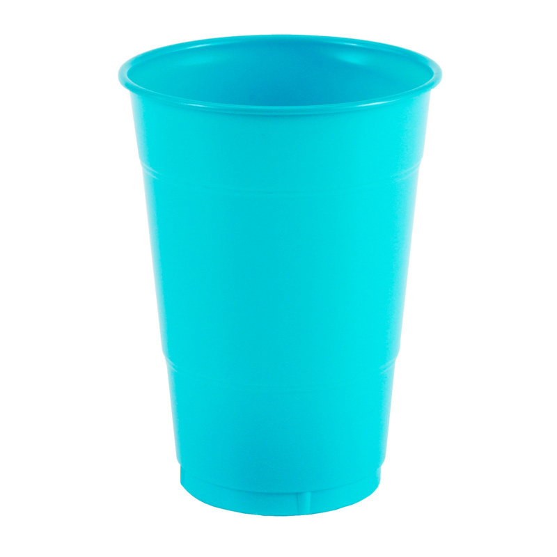 Turquoise 16 oz. Plastic Cups (20 count)