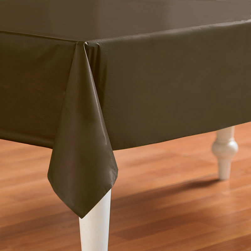 Brown Plastic Tablecover