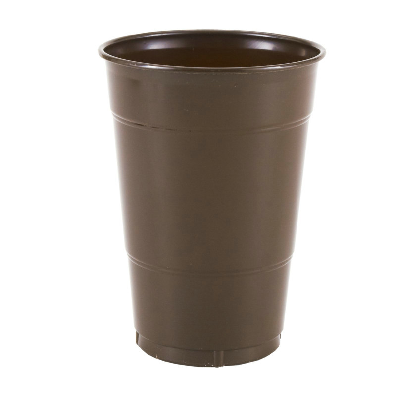 Brown 16 oz. Plastic Cups (20 count)