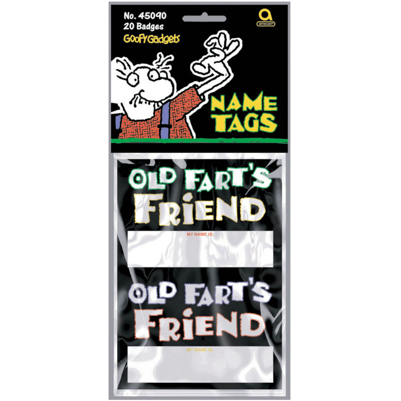 Old Fart's Friends' Name Tags (20 count)