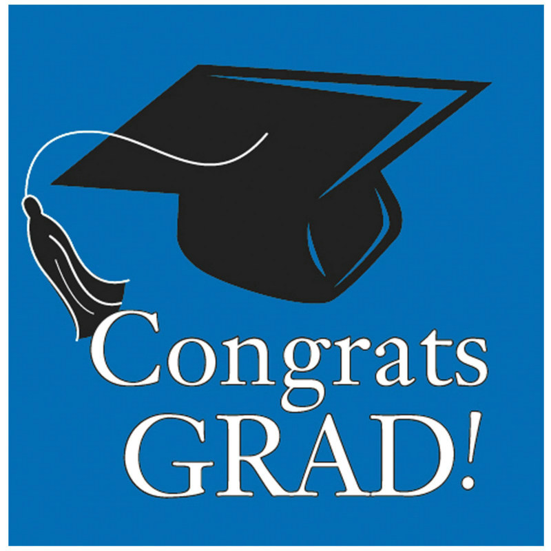 Congrats Grad True Blue Lunch Napkins (36 count)