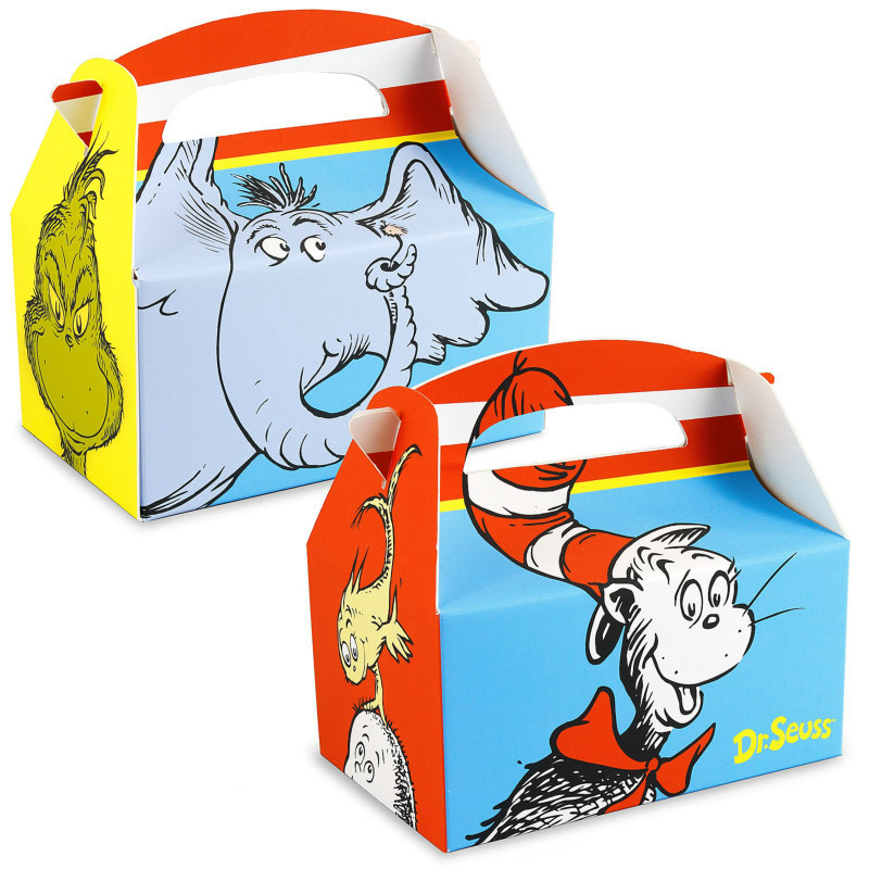 Dr. Seuss Empty Favor Boxes (4 count)