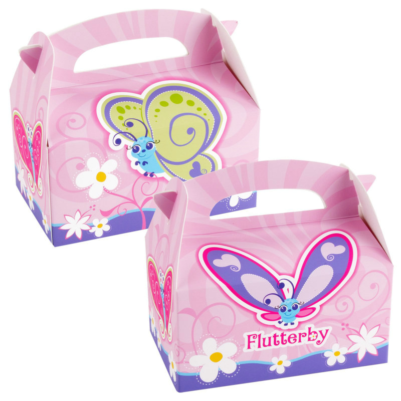 Flutterby Butterflies Empty Favor Boxes (4 count)