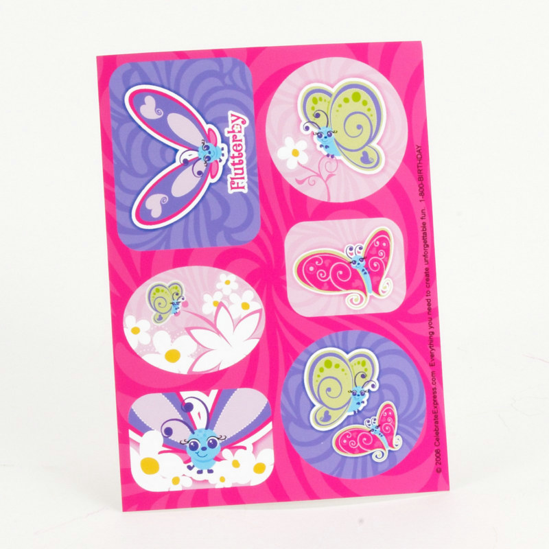 Flutterby Butterflies Stickers (4 sheets)