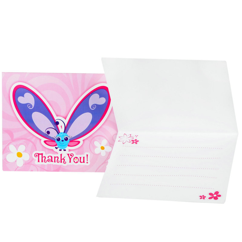 Flutterby Butterflies Thank-You Cards (8 count)