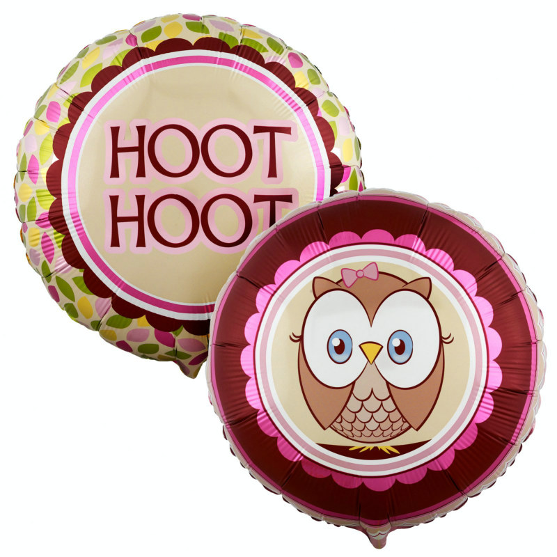 "Look Whoo's 1 - Pink 18"" Foil Balloon"