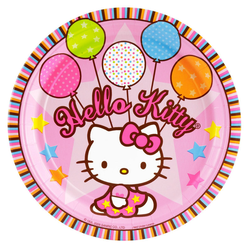 Hello Kitty Balloon Dreams Dinner Plates (8 count)