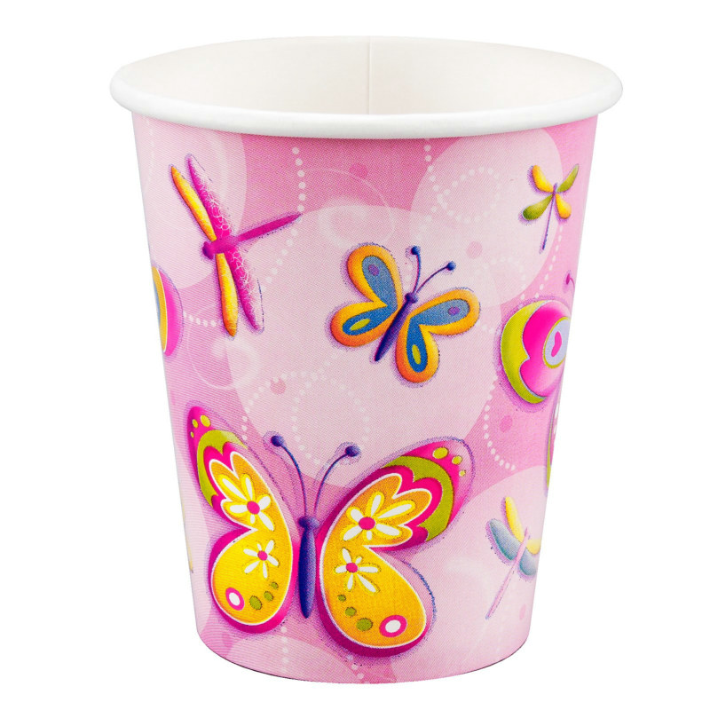 Butterflies and Dragonflies 9 oz. Paper Cups (8 count)