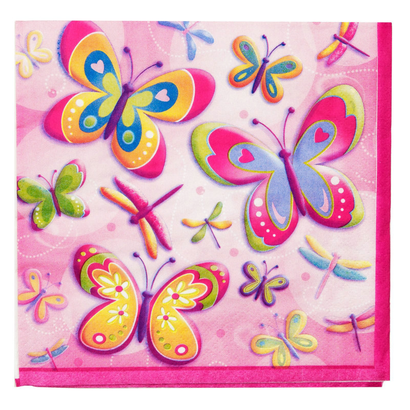 Butterflies and Dragonflies Lunch Napkins (16 count)