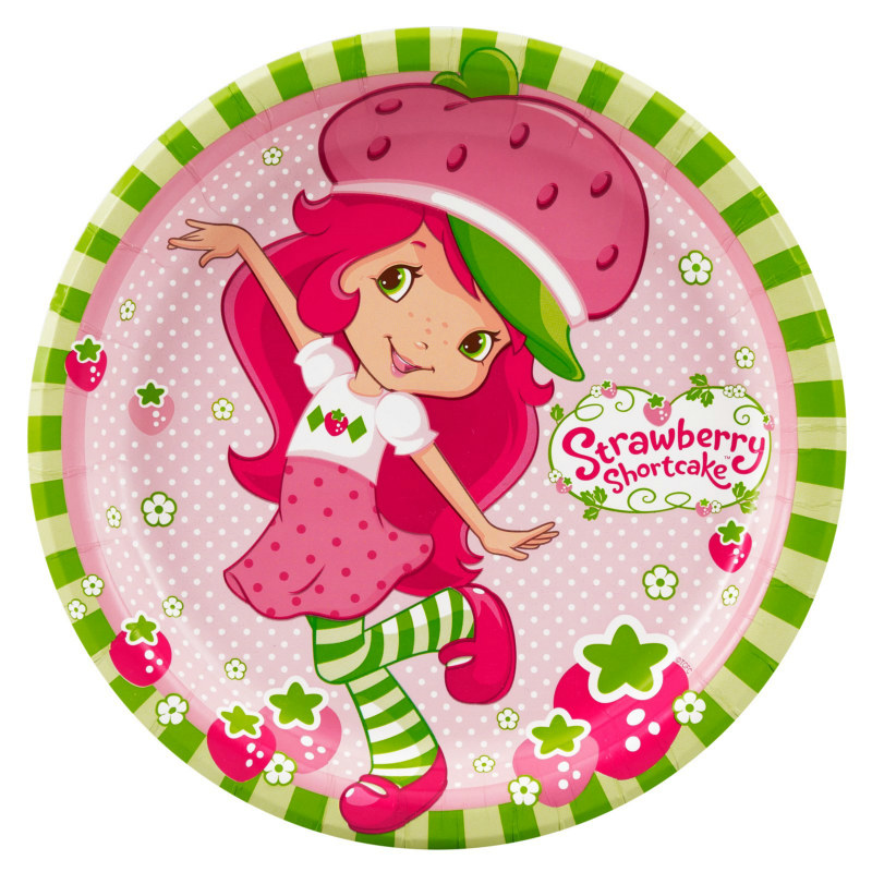 Strawberry Shortcake Dinner Plates (8 count)