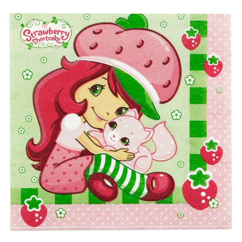 Strawberry Shortcake Lunch Napkins (16 count)