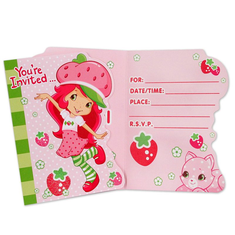Strawberry Shortcake Invitations (8 count)