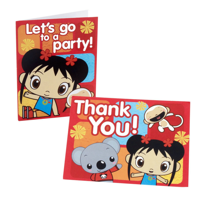 Ni Hao, Kai-Lan Invitation/ Thank You Postcards (8 of each)