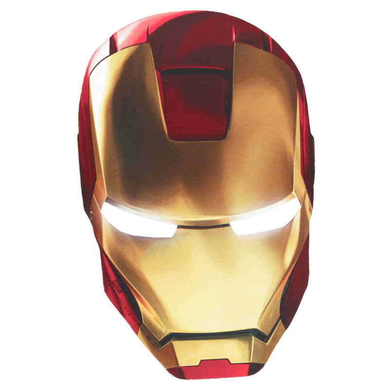 Iron Man 2 Paper Masks (8 count)