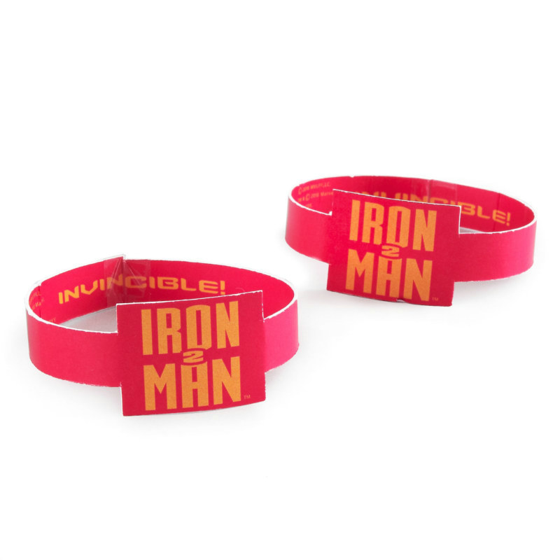 Iron Man 2 Rubber Wristbands (4 count)