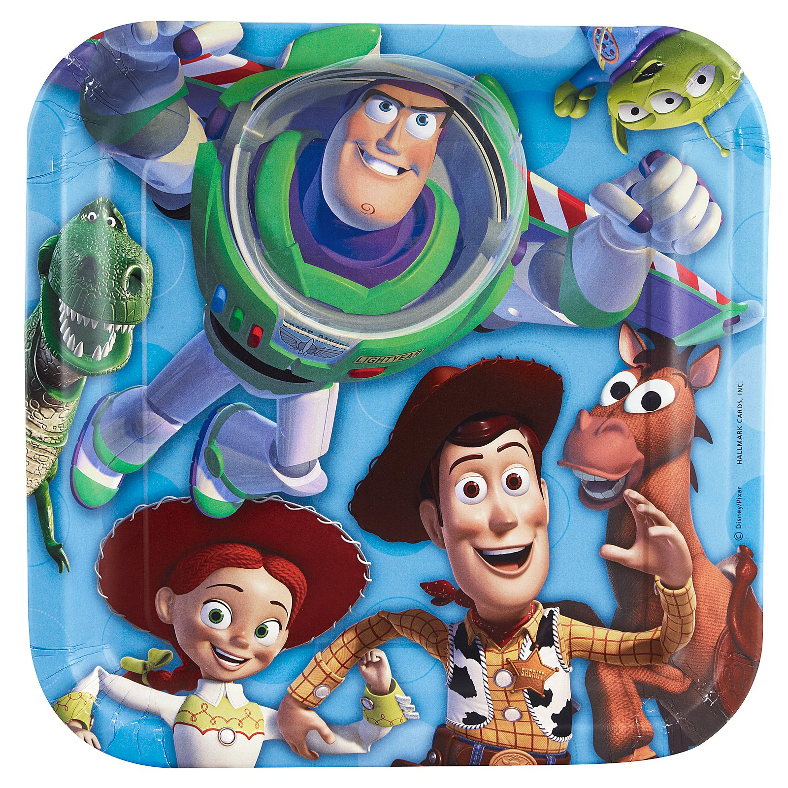 Toy Story 3 - 3D Square Dinner Plates (8 count)