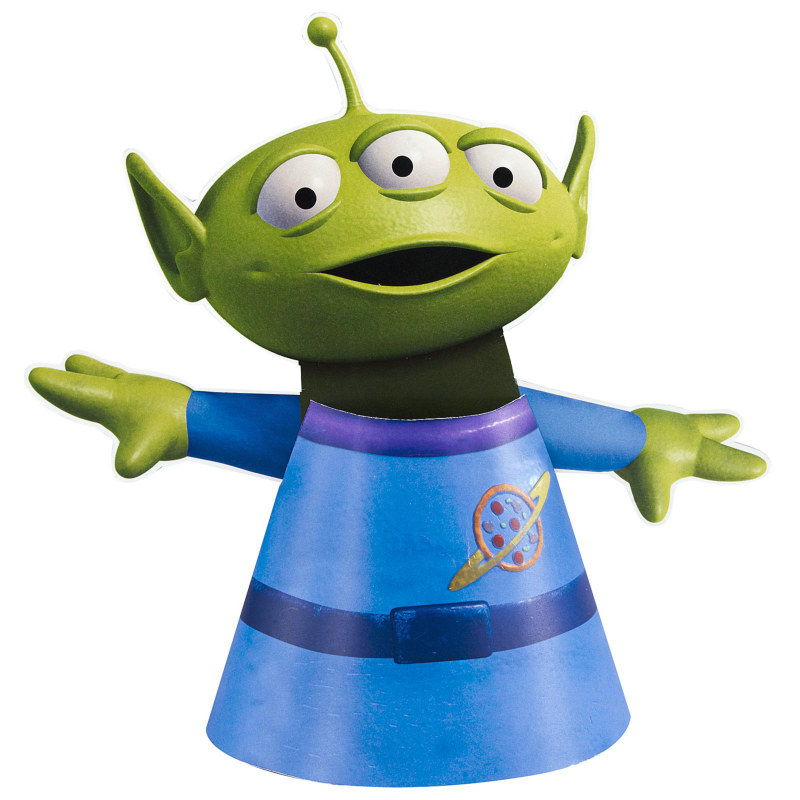 Toy Story 3 Alien Cone Hats (4 count)